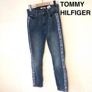 トミーヒルフィガー(TOMMY HILFIGER)のジーンズ デニム パンツ ジーパン ロゴライン ブルー 新品 トミーヒルフィガー(デニム/ジーンズ)