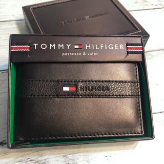 トミーヒルフィガー(TOMMY HILFIGER)のトミーヒルフィガー 財布 サイフ 本革 トレー 新品  カードケース ブランド(折り財布)