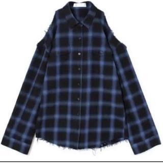 バブルス(Bubbles)のBUBBLES 肩あきシャツ チェックシャツ(シャツ/ブラウス(長袖/七分))