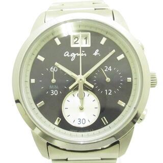 アニエスベー(agnes b.)のアニエスベー 腕時計美品  VK73-00A0 黒(その他)