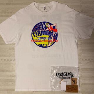 テンダーロイン(TENDERLOIN)の新作! TENDERLOIN 半袖 Tシャツ TEE CS サーカス 白 XL(Tシャツ/カットソー(半袖/袖なし))