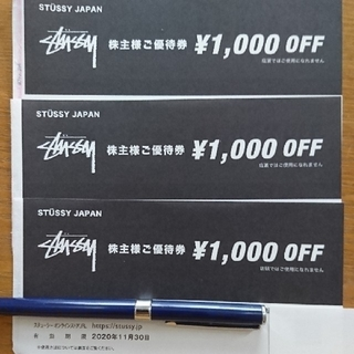 ステューシー(STUSSY)のTSI株主優待券 TSIグループ ステューシー優待券1000円オフ3枚(ショッピング)