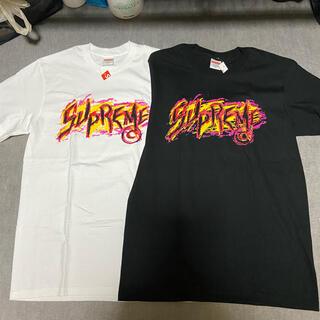 シュプリーム(Supreme)のsupremeシュプリームロゴTシャツS新品2着セットショップ袋ステッカー付属(Tシャツ/カットソー(半袖/袖なし))