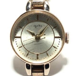 アガット(agete)のアガット 腕時計 - レディース アイボリー(腕時計)