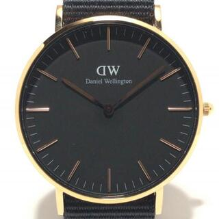 ダニエルウェリントン(Daniel Wellington)のダニエルウェリントン 腕時計 - E36R1 黒(その他)