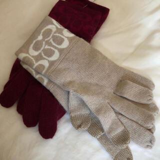 コーチ(COACH)のコーチタグ付きスマホ対応手袋(手袋)