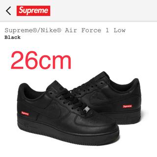シュプリーム(Supreme)のSupreme air force 1 AF1 エア フォース 黒 26cm(スニーカー)