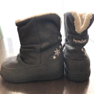 ファミリア(familiar)の【未使用】ファミリア  ムートンブーツ 13cm(ブーツ)