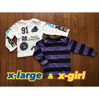 エックスガール(X-girl)のXLARGE & XGIRL ロンT2枚セット90〜95センチ エクストララージ(Tシャツ/カットソー)