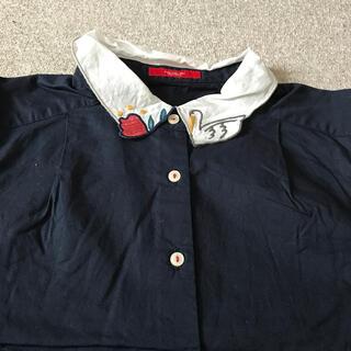 プードゥドゥ(POU DOU DOU)のPOU DOU DOU 紺色シャツ(シャツ/ブラウス(長袖/七分))