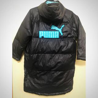 プーマ(PUMA)の【美品】puma ダウンベンチコート ネイビー×ライトブルー 130(コート)