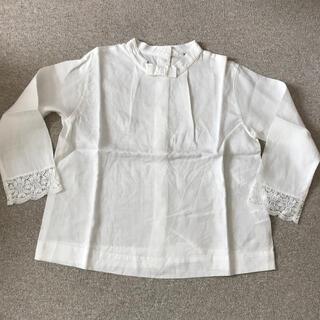 プードゥドゥ(POU DOU DOU)のPOU DOU DOU 襟なし白ブラウス(シャツ/ブラウス(長袖/七分))
