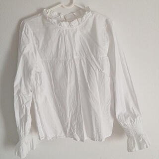 ウィゴー(WEGO)の白 フリルブラウス(シャツ/ブラウス(長袖/七分))