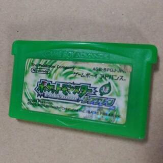 ゲームボーイアドバンス(ゲームボーイアドバンス)のGBA ポケットモンスター リーフグリーン(携帯用ゲームソフト)