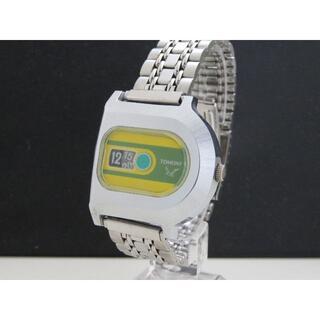 セイコー(SEIKO)のTOMONY 手巻き腕時計 5018-5010 レトロ イエロー・グリーン(腕時計(アナログ))