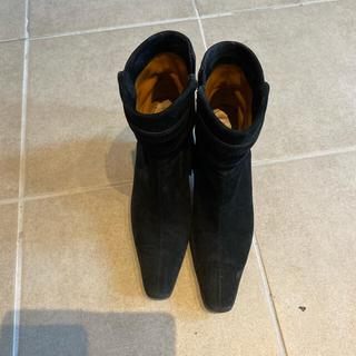 フェラガモ(Ferragamo)のフェラガモ スエード ショートブーツ 23.5cm(ブーツ)