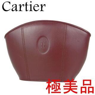 カルティエ(Cartier)のカルティエ 極美品 マストライン 2C レザー 化粧 ポーチ 小物入れ バッグ(ポーチ)
