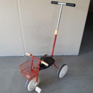 ムジルシリョウヒン(MUJI (無印良品))のお値下げ無印良品MUJI押し棒付き子供用三輪車/赤/傷汚れあり/直接引き取り歓迎(三輪車)