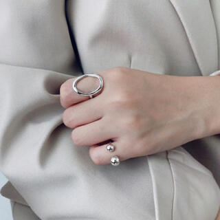 フィリップオーディベール(Philippe Audibert)のdouble ball ring 【silver925】(リング(指輪))