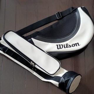ウィルソン(wilson)のウィルソン 練習用ゴルフバッグ ブラック&ホワイト Wilson(バッグ)