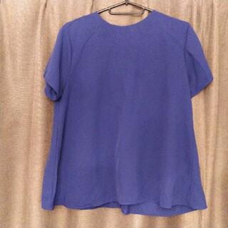 ユニクロ(UNIQLO)のユニクロ ブルー トップス(シャツ/ブラウス(半袖/袖なし))