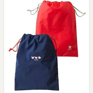 ファミリア(familiar)のファミリア 便利な巾着袋2枚セット 新品(ランチボックス巾着)