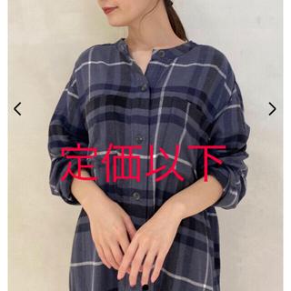 ジェラートピケ(gelato pique)の新品☆ ネルチェックロングドレス(ルームウェア)
