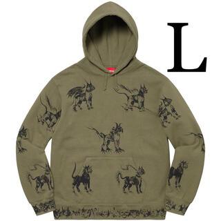 シュプリーム(Supreme)のL Supreme Animals Hooded Sweatshirt パーカー(パーカー)