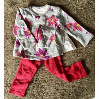 ハッカベビー(hakka baby)の花柄トレーナーセット(Tシャツ/カットソー)