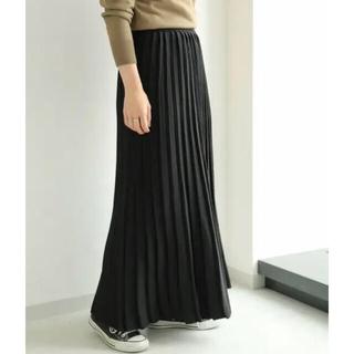 アメリカンホリック ロングニットプリーツスカート 黒 ブラック(ロングスカート)