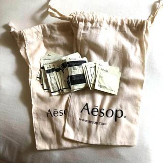 イソップ(Aesop)のAesop サンプル18点と巾着バッグ2点のセット(ポーチ)
