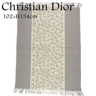 Christian Dior - クリスチャンディオール 102×134cm 雪 防寒 ひざ掛け ブランケット