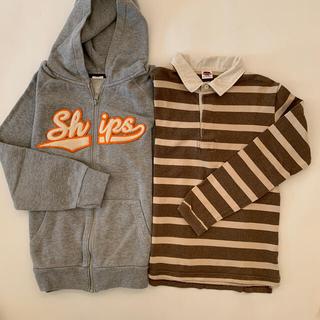 シップスキッズ(SHIPS KIDS)のSHIPS KIDS  パーカー、ラガーシャツ2枚セット(Tシャツ/カットソー)