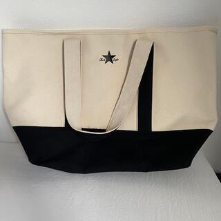 コンバース(CONVERSE)のコンバース トートバッグ キャンバス ホワイト x ブラック 新品 未使用(トートバッグ)