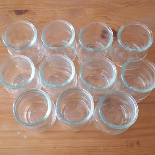 プリン容器×11個 空き瓶 ガラス瓶 製菓(容器)