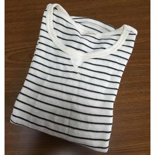 ジーユー(GU)のGU ワッフルボーダーT(長袖)(Tシャツ(長袖/七分))