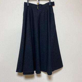 クリスチャンディオール(Christian Dior)のクリスチャンディオール  ミモレ丈スカート グレー(ロングスカート)