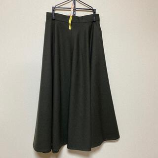 クリスチャンディオール(Christian Dior)のクリスチャンディオール  ロングスカート モスグリーン(ロングスカート)