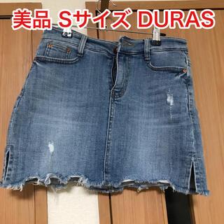 デュラス(DURAS)のDURAS デュラス 美品 デニムミニスカート デニムスカート キュロット(ミニスカート)