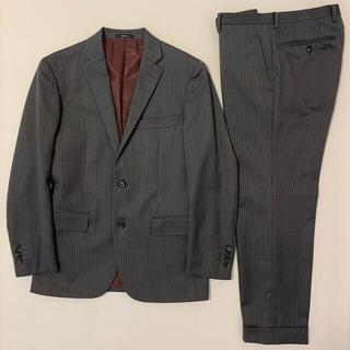 コムサイズム(COMME CA ISM)のコムサイズム スーツ ストライプ グレー オックス ネイビー (セットアップ)
