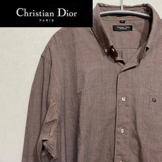 クリスチャンディオール(Christian Dior)のしった様専用 クリスチャンディオール 長袖 チェックシャツ ボタンダウン 90s(シャツ)