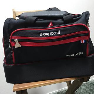 ルコックスポルティフ(le coq sportif)の美品:ルコック ゴルフ ボストンバック 二層式(バッグ)