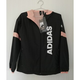 adidas - 未使用 アディダス ジャンパー パーカー ウィンドブレーカー 黒 黒