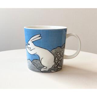アラビア(ARABIA)のThe Fishing Rabbit 2003年 ヘルヤ マグ アラビア(グラス/カップ)