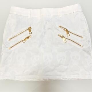 マークアンドロナ(MARK&LONA)のMARK&LONA♡白✖️ゴールド冬用ミニスカート(ウエア)