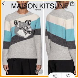 メゾンキツネ(MAISON KITSUNE')の試着のみ フォックス ヘッド ニット キツネ MAISON KITSUNE(ニット/セーター)