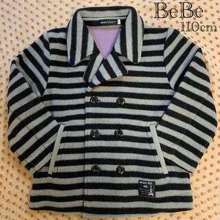 ベベ(BeBe)のBeBe /110cm/男児/フリース ボーダー柄 Pコート(コート)