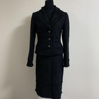 トゥービーシック(TO BE CHIC)のTO BE CHIC トゥービーシック ツイード スカート スーツ 40(スーツ)