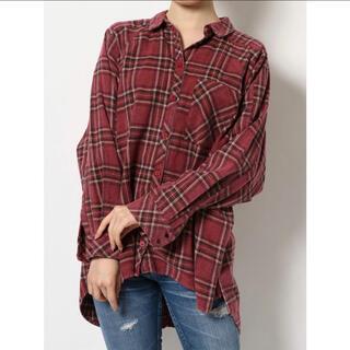 ジェイダ(GYDA)のGYDA シャツ グランジモモンガチェックシャツ F 7990(シャツ/ブラウス(長袖/七分))