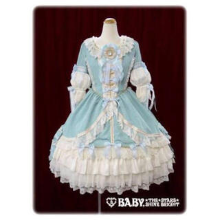 ベイビーザスターズシャインブライト(BABY,THE STARS SHINE BRIGHT)のLa robe vert clair 受注限定コラボワンピースドレス エシャルプ(ひざ丈ワンピース)